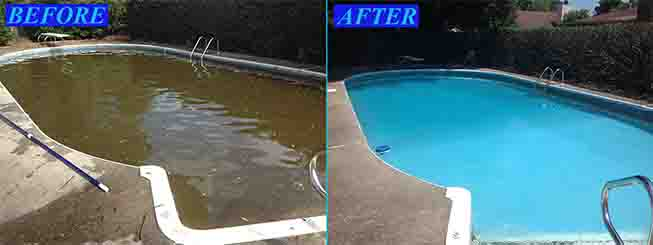 Pool Cleaning Before And After : Coral springs pool service and repair cleaning